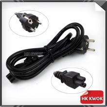 Free DHL/Fedex 50pcs 1.2M 3 Prong EU plug Laptop PC AC Power Cord Cable for Toshiba HP Acer Asus Dell Samsung EUROPEAN