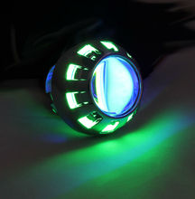 HID Xenon projector lens for motorcycle bulb,shroud,Green Angel eye Blue Devil eye  hid motocycle projector