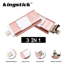 Kingstick USB Stick For iphone 6 6s Plus 5S ipad OTG USB Flash Drive 8GB 16GB 32GB 64GB Pen drive external storage memory stick