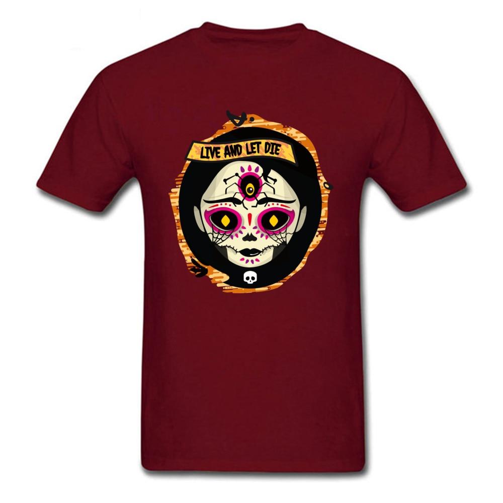 Catrina 100% Cotton T Shirt for Men Design T-shirts Group Funny Round Neck Tees Short Sleeve Drop Shipping Catrina maroon