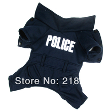 New Cute Dark blue English police Pet Dogs Coat Free Shipping By china post Dogs clothes(China)