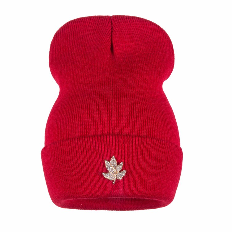 Ralferty Casual Crystal Leaf Beanie Winter Hats For Women Skullies Caps Female Chapeu Toca bonne gorras bonnet Cap Men Snowboard 9