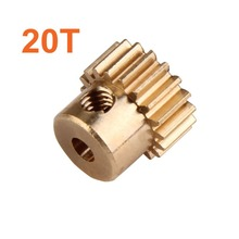 28014 Motor Gear Metal Brass Pinion 20T HSP Parts For 1/16th RC Car Electric Model ZILLIONAIRE 94182 Pro Hobby Himoto