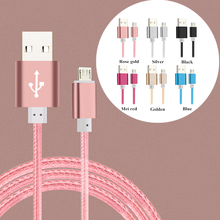 Newest 0.25cm/1M/1.5M Colorful Nylon Line Micro USB Data Sync Charger Cable for iPhone 6 6s Plus 5s 5 iPad mini / Samsung / HTC