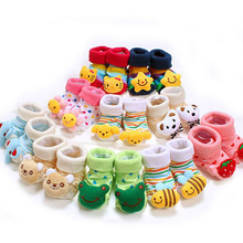 Lovely Cute Cartoon Animal Doll Infant Socks Newborn Baby Socks 24 Style Model Anti-slip Toddler Boys And Girls Socks 14-203(China)