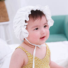 Moeble Baby Girls Vintage Style Hat Cotton Bonnet Toddler lovely Beanie Infant Caps Newborn granny hat milk maid cap 1pc H836
