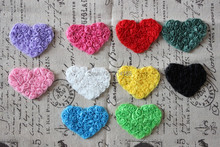 Free shipping 2''  (7*5cm)Chiffon Rosette Heart Lace flower Shabby Chic Frayed flowers