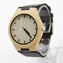 Handmade Wooden Watch Made with Natural  Wood In  Black Leather Strap For Men Or Women Christmas Gift  With Fashion Watches  Box