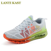 Men Running Shoes Air Mesh Breathable Outdoor Sport Max Travel Athletic Sneakers Shoes Gradient Design Single Light Sport Shoes(China)