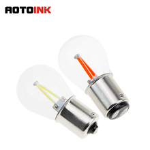 Buy AOTOINK 2pcs Car P21w 1156 ba15s LED filament Bulb 7506 1157 bay15d P21/5W Brake Lights Reverse Lamp S25 Turn Signal light CA for $2.86 in AliExpress store