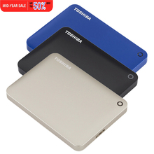 "Toshiba HDD Canvio Connect USB 3.0 2.5"" 2TB 1TB Portable External Hard Disk Drive Mobile Desktop Laptop Encryption HDTC820YK3CA(China)"
