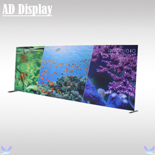 20ft*8ft High End Angled Edge Straight Tension Fabric Media Back Wall With Double Side Printed Banner,Trade Show Booth Display