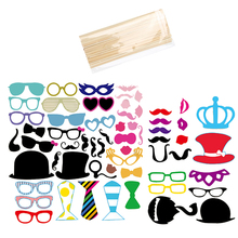 60 Pcs Wedding Photo Booth Props Party Decorations Supplies Mask Mustache For Fun Favors Photobooth Photocall