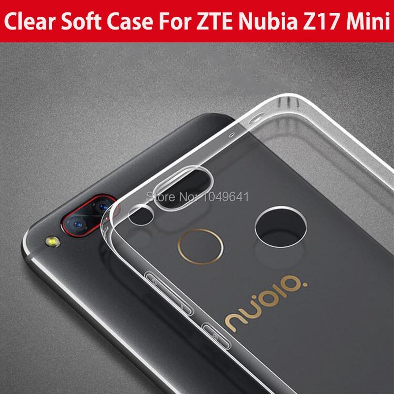 ZTE1335_1_Ultra-thin Clear Soft Case for ZTE Nubia Z17 Mini 5.2 inch
