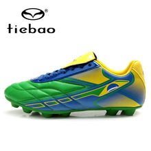 TIEBAO Professional National Flag FG & HG & AG  Soles Football Boots Outdoor Soccer Shoes Men Training Shoes chuteira futebol