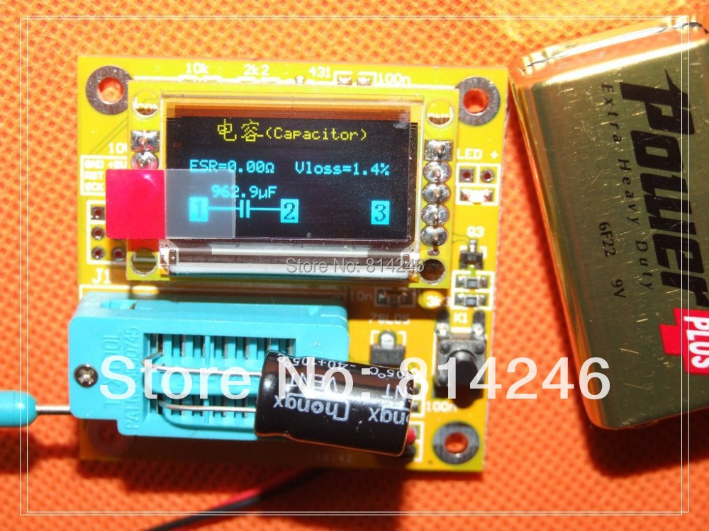 Free shipping,LCR-T2 multifunction tester ,can measure inductance + resistors + ESR + capacitance + Zener diode + SCR<br><br>Aliexpress