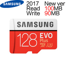 Samsung 2017 MAX R 100MB/S W 90MB/S Memory TF 128G Card  New Version EVO PLUS C10 MicroSD Cards U3 Flash