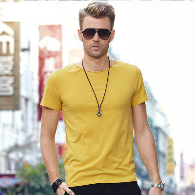 MRMT 2018 Brand New Mens T Shirt Short Sleeved T-Shirt V Collar Two Button Buttons Solid Colored Tshirt For Male Tops 64