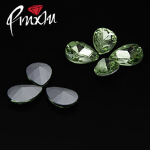 Wholesale !  Light green 10*14mm,13*18mm,18*25mm,20*30mm Crystal Rhinestones Fancy stone pointback  Jewelry Making,DIY Accessory