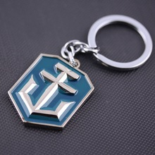 Game Series New Arrival High Quality Keychain Popular World of Warships Game Logo Metal Keychain