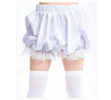 Women Lolita Kawaii Lace Shorts Harajuku Cute Pumpkin Bloomers Shorts Cute Japanese Style Mori Girl(China)