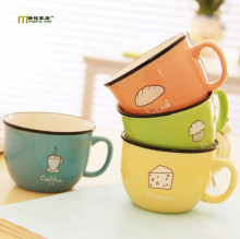 1PC Japan Style Creative Candy Color Ceramic Mug Coffee Milk Breakfast Cup Cute Porcelain Tea Mugs 250ml Novetly Gifts LF 086