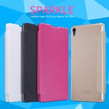 Buy Nillkin sparkle series flip leather case cover Sony Xperia XA Ultra 6.0 inch phone bag skin cases sony xa ultra fundas for $7.91 in AliExpress store