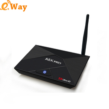Free shipping Android 7.1 Internet Tv box A5X Pro 2GB 16GB Smart Media player Blu-tooth RK3328 Quad-Core support 4k set-top box(China)