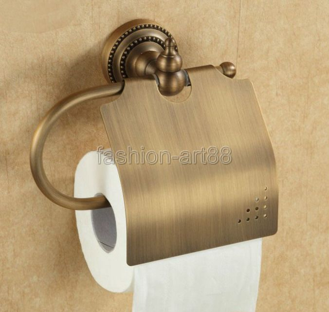 Bathroom Accessory Vintage Retro Antique Bronze Wall Mounted Toilet Paper Roll Holder aba079<br><br>Aliexpress