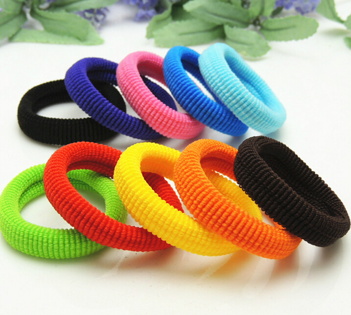 90 pcs/ 1 pack Elastic candy Color Baby Girls Towel Big Hair Ropes Kids' Hair bands 4cm