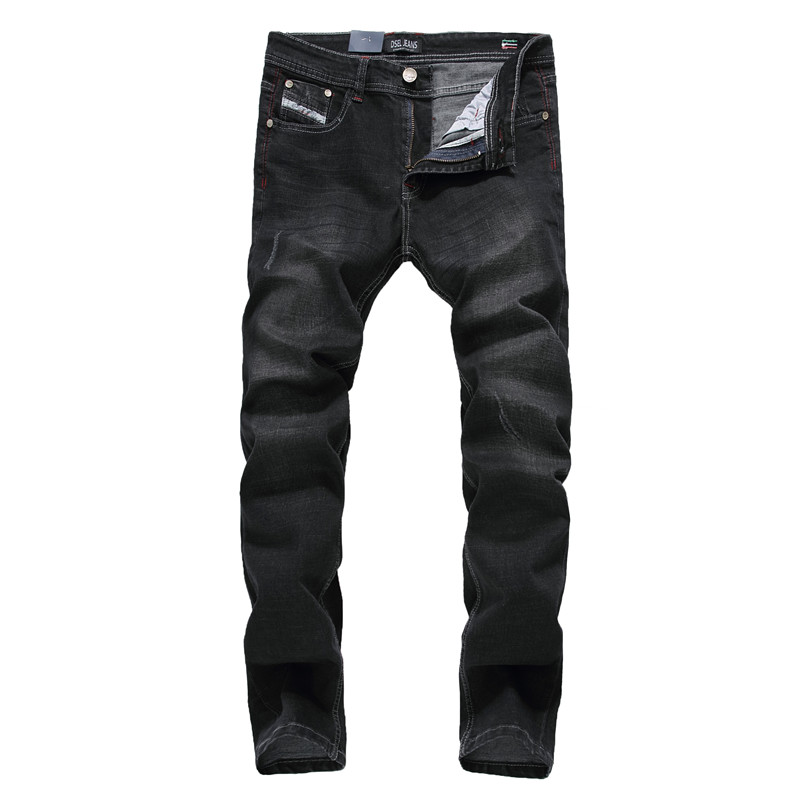 DSEL Brand Biker jeans for men high quality mens jeans size 40 slim straight stretch skinny jeans black color ripped jeansОдежда и ак�е��уары<br><br><br>Aliexpress