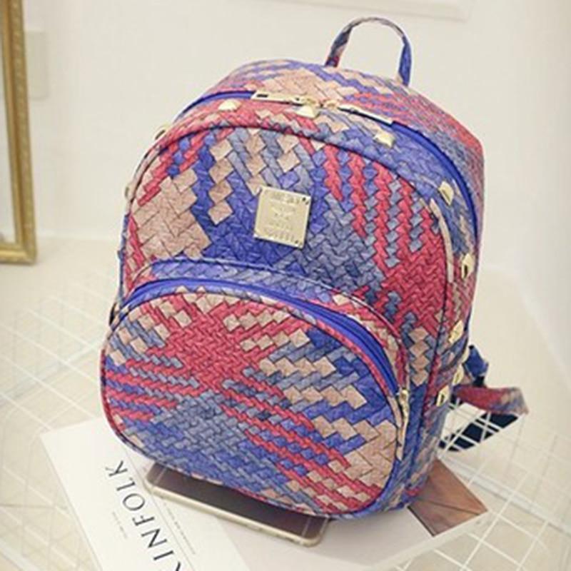 LEFTSIDE 2017 New Designer Women Backpacks Weave PU Leather School Bag For Teenagers  girls Womens Backpack Bag Travel Bolsas<br><br>Aliexpress