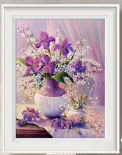 Eleganrt Purple Flower Vase Diamond Painting Rhinestone Crystal DIY Painting Cross Stitch Diamond Embroidery Hot Sale
