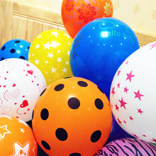 50 pcs/lot Printing Cartoon Polka dot Animal Flowers balloons 12'' colored balloon toys for children's birthday party decoration