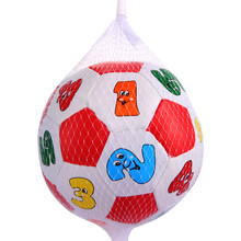 Kids Baby Early Education Football Toys PVC/Sponge Alphabet Number Learning Ringing Ball Funny Outdoor Sport Toys