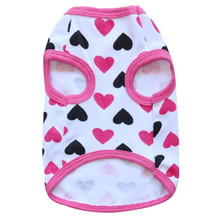 Dropshipping Best Sell High Quality Pets Love Cotton Jersey Vest Pet Clothing WH(China)