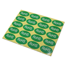 Oval Green Self Adhesive Package Stickers For Electronics RoHS Character Printed Wholesale Paper Enviromental Protection Label(China)