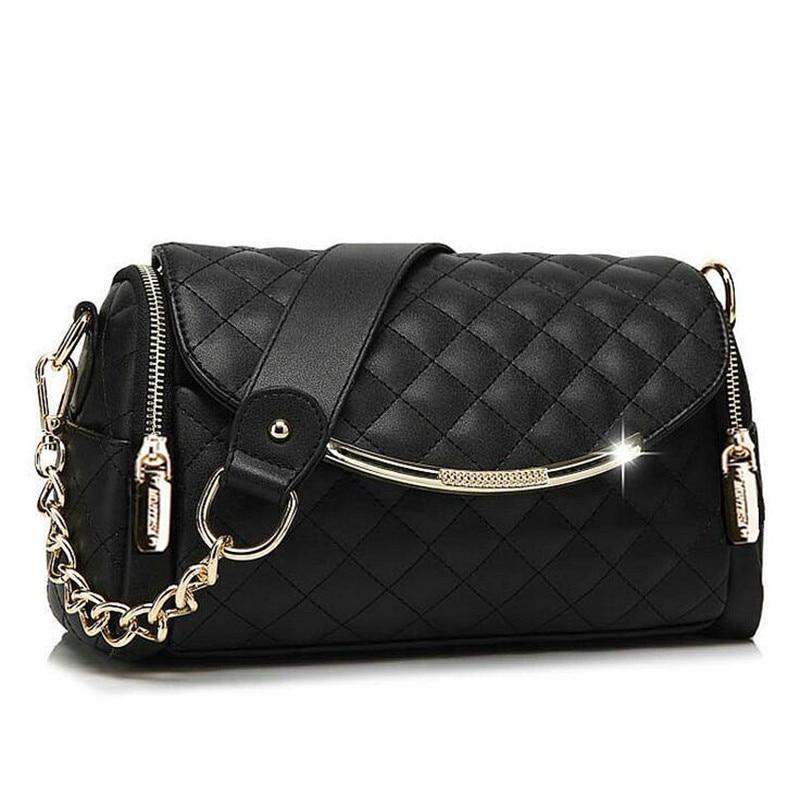 Real Genuine Leather Women Handbag Messenger Bag for Ladies Baguette Flap Shoulder Bag Diamond Lattice Chains Cowhide Pink Beige<br><br>Aliexpress