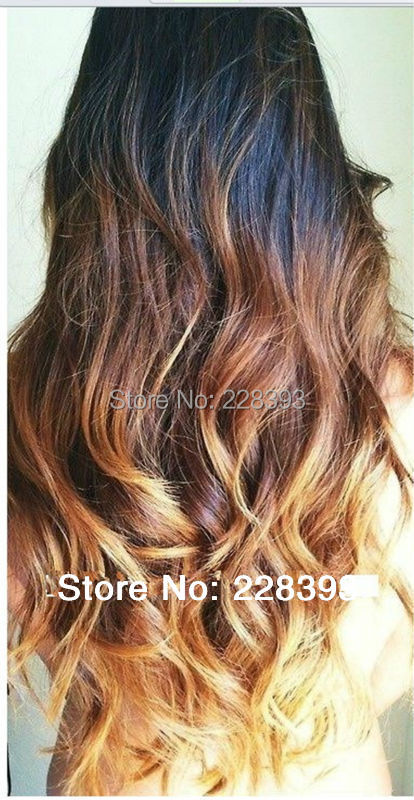 6A Brazilian Body Wave Hair Products Three Tone 1b #8 #613 Ombre Hair Extensions Human hair weaves<br><br>Aliexpress