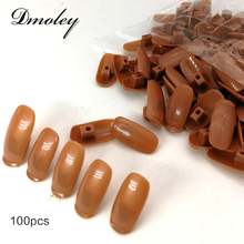 100PCS/Pack Manicure Nail Tips For Nail Art Equipment DIY Practice Flexible Fake Human Fingers Personal Nail Art Training Tool(China)