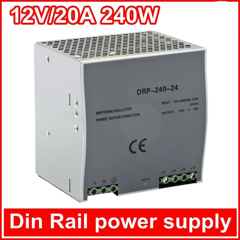 switch power  LED DIN rail power single output 24V 48V 12V AC Switch power supply  DR-240W-12V<br><br>Aliexpress
