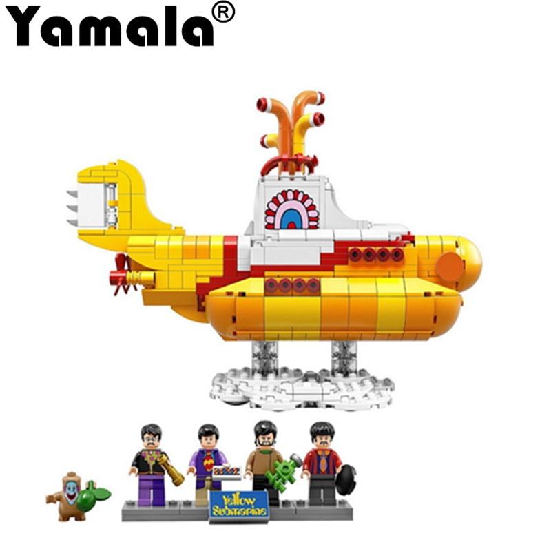 [Yamala]The Beatles 21012 John Lennon 21306 George Ideas Yellow Submarine Building Blocks Bricks Toy compatiable with legoingly<br>
