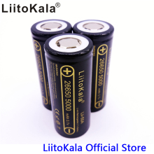 3pcs HK LiitoKala lii-50A 26650 5000mah lithium battery 3.7V 5000mAh 26650 rechargeable battery suitable for flashligh NEW(China)