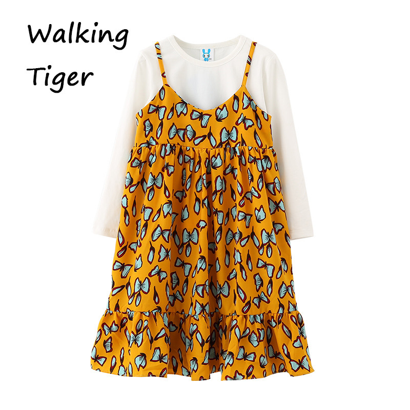 Girl dress + tops,clothing sets girls puffy dresses girls clothes knit tops dresses floral dress autumn 2017 new <br>
