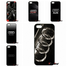 Cool Audi Car RS Logo Printed Cell Phone Case Cover For iPhone 4 4S 5 5C SE 6 6S 7 Plus Galaxy J5 J3 A5 A3 2016 S5 S7 S6 Edge