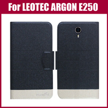 Hot Sale! LEOTEC ARGON E250 Case High Quality 5 Colors Fashion Flip Ultra-thin Leather Protective Cover Phone Bag(China)