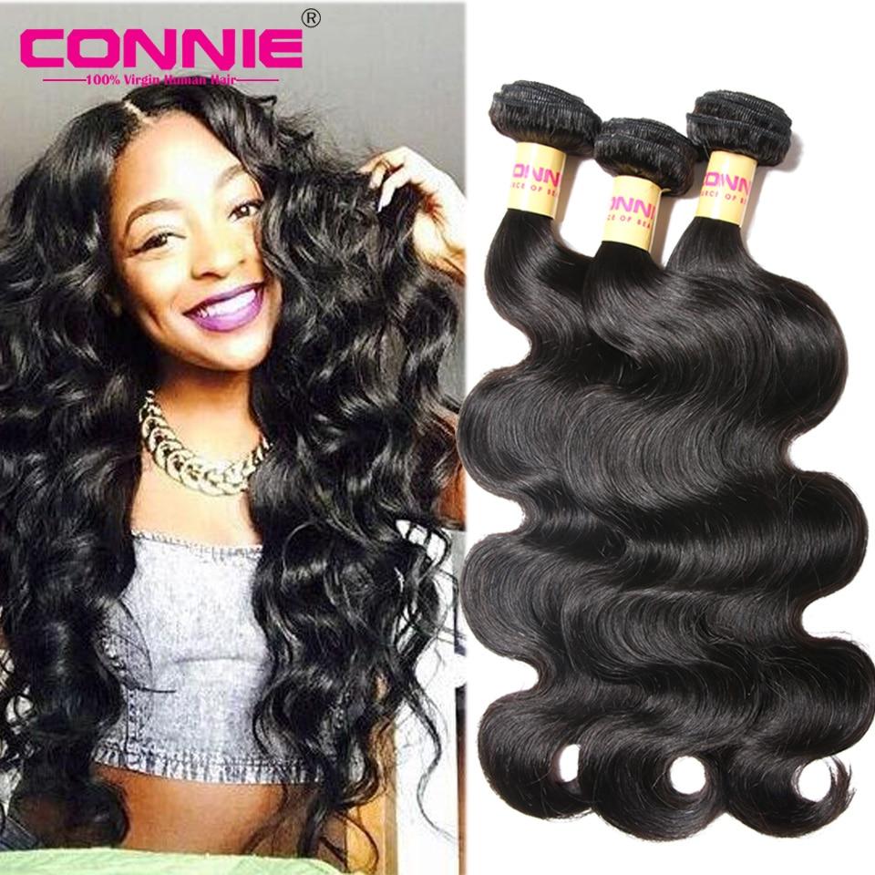 Peruvian Body Wave 7A Peruvian Virgin Hair Body Wave 3 Bundle Deals Peruvian Wavy Hair Connie Body Wave Human Hair Bundles Weave<br><br>Aliexpress