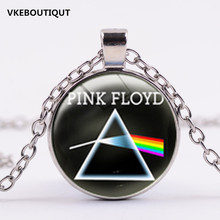 3/Color Hot Music Band Pink Floyd Logo Llaveros Accesorios Cristal Collares Pendant 2017 New Necklace(China)