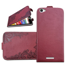 Brand Flip Case For Highscreen Power Ice Evo 3D Embossing PU Leather Protective Bags Cover With Card Pocket