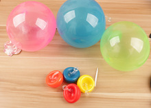40pcs mini Tiny Wubble Balloon toy 30-40cm after Inflation outdoor play TPR sugar color bubble ball kids d12(China)
